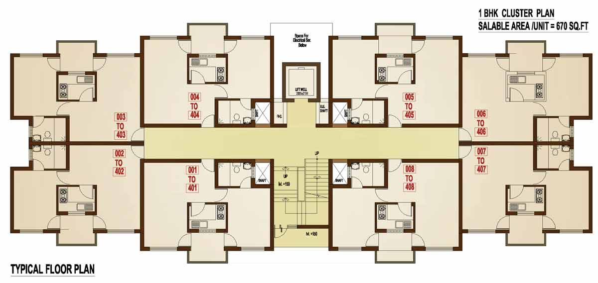 1 Bhk Floor Plan Kubhera Vistas 1bhk Apartments For Sale