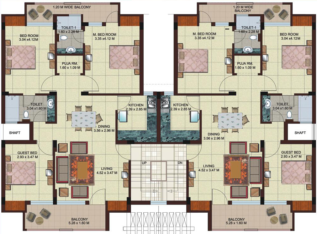 10 awesome two bedroom apartment 3d floor plans architecture of an